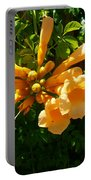 Orange Trumpets Portable Battery Charger