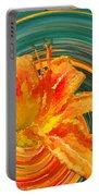 Orange Twist Daylily Photoart Portable Battery Charger
