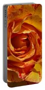 Orange Variegated Rose Portable Battery Charger