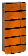 Orange Wall Portable Battery Charger by Semmick Photo