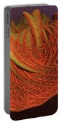 Orange Weave Portable Battery Charger