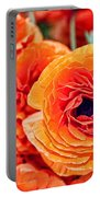 Orange You Happy Ranunculus Flowers By Diana Sainz Portable Battery Charger