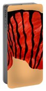 Orange Zebra Portable Battery Charger