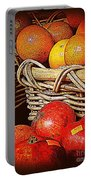 Oranges And Persimmons Portable Battery Charger