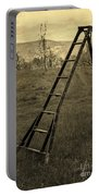 Orchard Ladder Portable Battery Charger by Edward Fielding