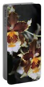 Orchid Brown Yellow White Macro Portable Battery Charger