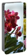 Orchid Collage Portable Battery Charger