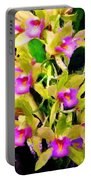 Orchid Flower Bunch Portable Battery Charger