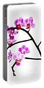 Orchid In White  Portable Battery Charger