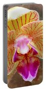 Orchid On Marble Portable Battery Charger