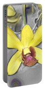 Orchids With Oil Slick Pattern Portable Battery Charger