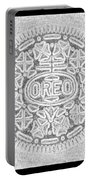 Oreo In Grey Portable Battery Charger by Rob Hans