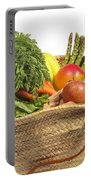 Organic Fruit And Vegetables In Shopping Bag Portable Battery Charger