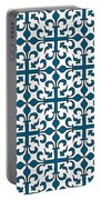 Orient Blue And White Interlude Portable Battery Charger
