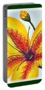 Oriental Daylily Trio Portable Battery Charger
