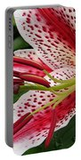 Oriental Hybrid Lily Named Dizzy Portable Battery Charger