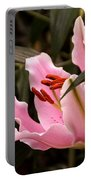 Oriental Lily Beauty Portable Battery Charger