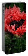 Oriental Poppy Portable Battery Charger