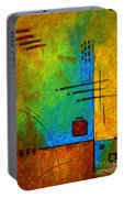 Original Abstract Painting Digital Conversion For Textured Effect Resonating IIi By Madart Portable Battery Charger