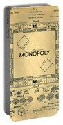 Original Patent For Monopoly Board Game Portable Battery Charger by Edward Fielding