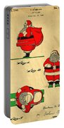 Original Patent For Santa On Skis Figure Portable Battery Charger
