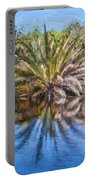 Ormond Scenic Loop Florida Palm Tree Painted  Portable Battery Charger