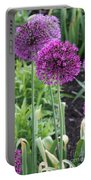 Ornamental Leek Flower Portable Battery Charger