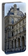 Ornate Architectural Artwork On The Buildings Of The Musee Du Louvre In Paris France Portable Battery Charger
