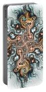 Ornate Cross Portable Battery Charger by Anastasiya Malakhova