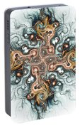 Ornate Cross Portable Battery Charger