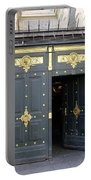 Ornate Door On Champs Elysees In Paris France Portable Battery Charger