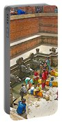 Ornate Fountains With Holy Water From The Bagmati River In Patan Durbar Square In Lalitpur-nepal   Portable Battery Charger