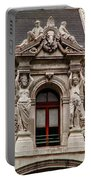 Ornate Window Of City Hall Philadelphia Portable Battery Charger
