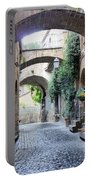 Orvieto Street With Arches Portable Battery Charger