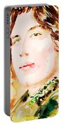 Oscar Wilde Watercolor Portrait.3 Portable Battery Charger