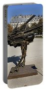 Ostrich Art At The Jardin Des Tuileries In Paris France Portable Battery Charger