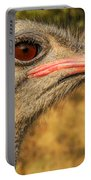 Ostrich Closeup Portable Battery Charger by Jess Kraft