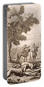 Otter Hunting By A River, Engraved Portable Battery Charger