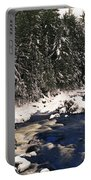 Ouareau River And Snow Covered Portable Battery Charger