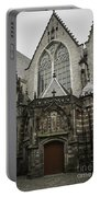 Oude Kerk Door With Bikes Amsterdam Portable Battery Charger
