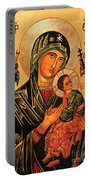 Our Lady Of Perpetual Help Icon II Portable Battery Charger by Ryszard Sleczka