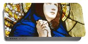 Our Lady Of Sorrows In Stained Glass Portable Battery Charger