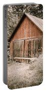 Out By The Woodshed Portable Battery Charger by Edward Fielding