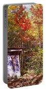 Out House In The Fall Portable Battery Charger