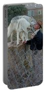 Out Of Africa  Friendly Wolves Portable Battery Charger