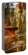 Out On A Ledge  Portable Battery Charger by Saija  Lehtonen