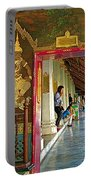 Outer Hall In Thai-khmer Pagoda At Grand Palace Of Thailand Portable Battery Charger