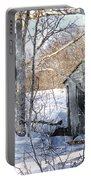 Outhouse In Winter Portable Battery Charger