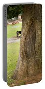 Oval Tree Art Portable Battery Charger