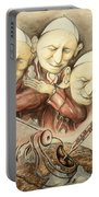 Over-pope-ulation - Cartoon Art Portable Battery Charger